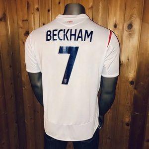 Umbro 2007 England David Beckham Men's XL Jersey